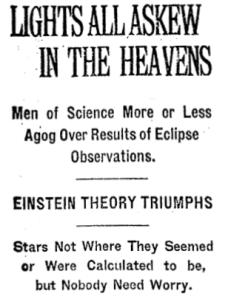 Overfitting- NYT 1919
