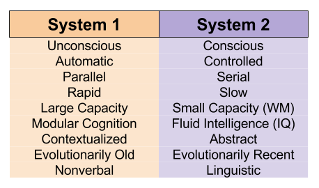 Linguistic Implications- Dual Process Theory