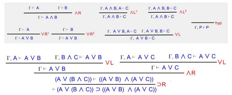 Sequent Calculus- Distributivity Step1 (2)